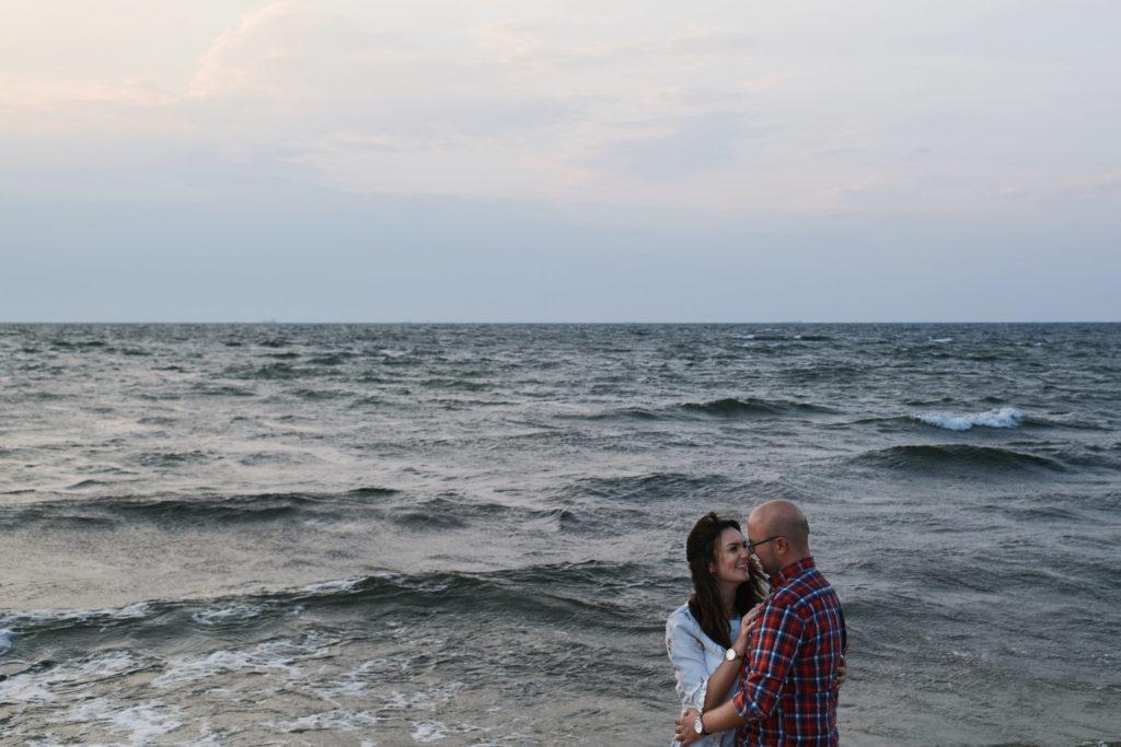 sesja zdjęciowa na plaży