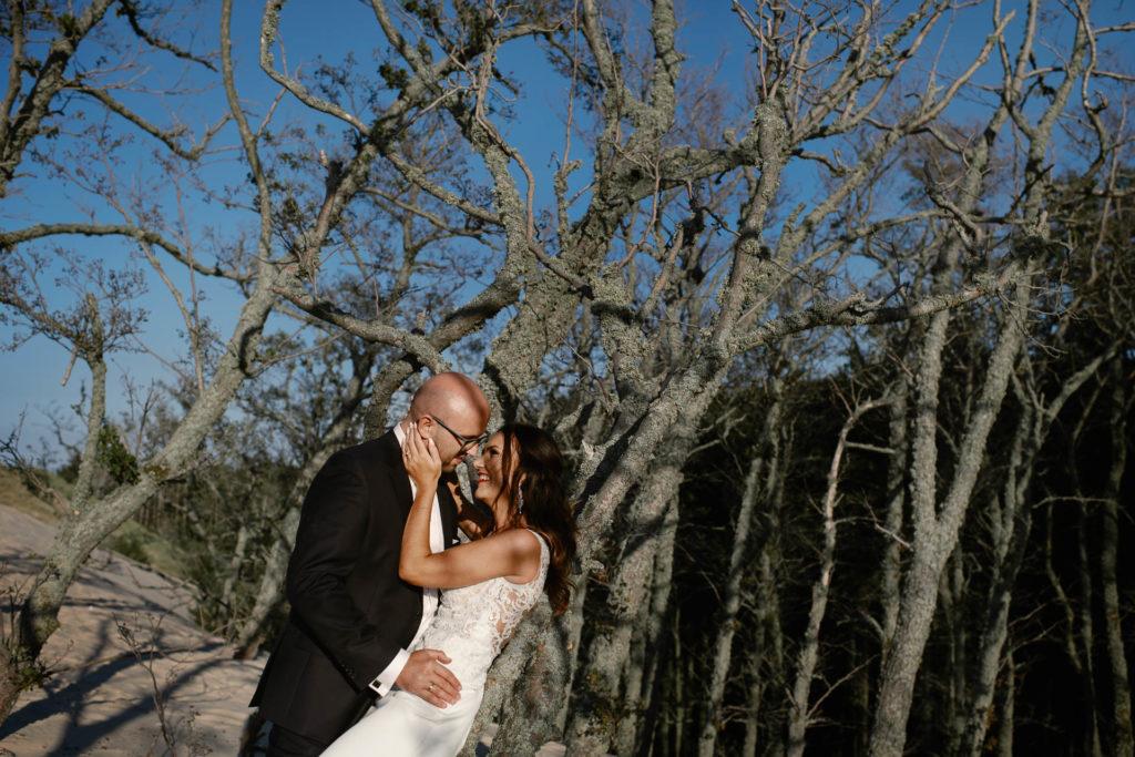 plener ślubny na wydmach